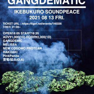 8/13 GANGDEMATIC -GANGDEMIC主催公演-